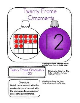 File Folder Game (Twenty Frame Ornaments)