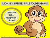 Literacy Center Uppercase Letter Recognition & Sound File Folder Game