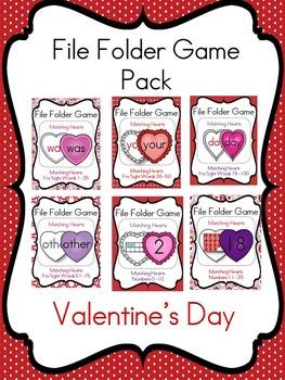 File Folder Game Valentine's Day Pack