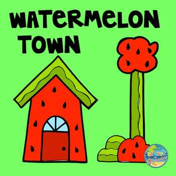 File Folder Game--Watermelon Town