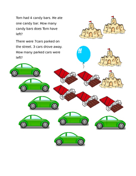 File Folder Game: Word Problems for Addition and Subtraction