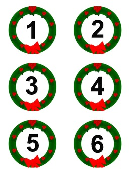 File Folder Game: Wreath Counting