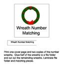 File Folder Game: Wreath Number Matching