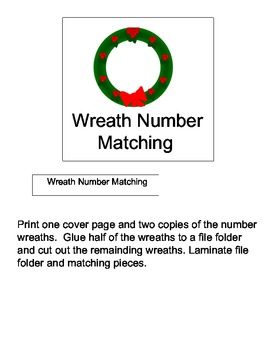 File Folder Game: Wreath Number Matching