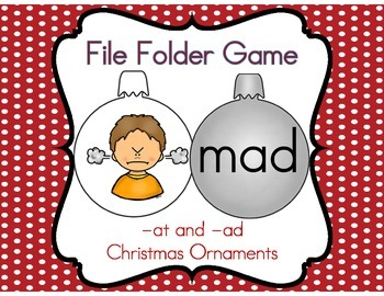 File Folder Game (-at and -ad Family Ornaments)