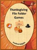 Thanksgiving Activities File Folder Fine Motor Special Education Kindergarten
