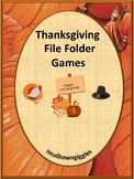 Thanksgiving File Folder Games for Special Education Thanksgiving Activities