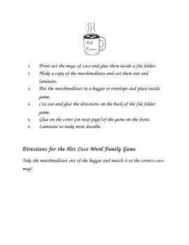 Kinder/ First Grade Literacy File Folder Games