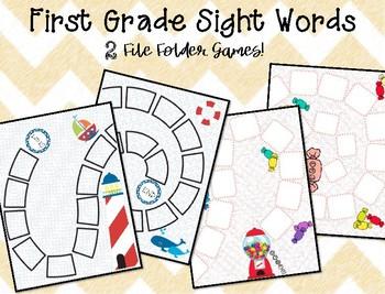 File Folder Games! 1st Grade Sight words {2 games included}