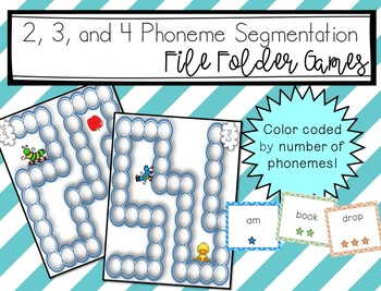 File Folder Games: 2, 3, and 4 phoneme words!