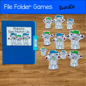 File Folder Games Bundle For Beginning Skills