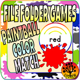 File Folder Games Color Words Paintball Kindergarten Preschool SPED