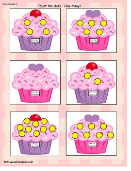 File Folder Games Cupcake Counting to 10 {Set of 6} Autism & Common Core