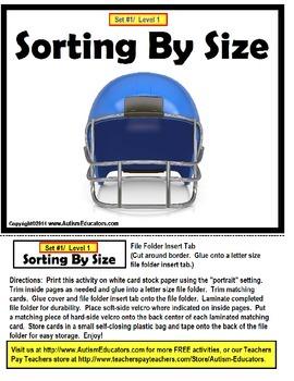 File Folder Games FOOTBALL {Set of 10}
