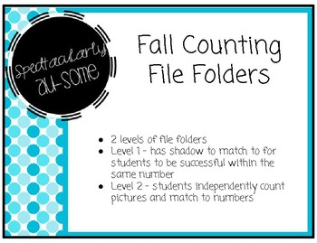 File Folder Games - Fall Counting