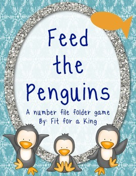 File Folder Games: Feed the Penguin Number Match