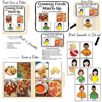 Games File Folder Food Bundle