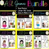 ASL Games File Folder Food Bundle