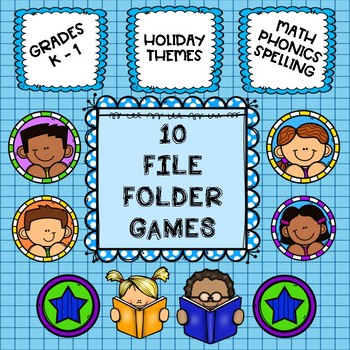File Folder Games:  Holiday Themed