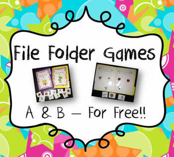 File Folder Games: Initial Sounds for A and B Freebie