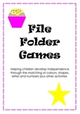 File Folder Games - Learning Centres, Autism, SEN, Matching