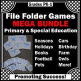 File Folder Games Math & Literacy BUNDLE PK-K Special Education Autism