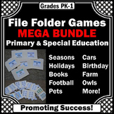 File Folder Games Special Education and Autism Resources BUNDLE