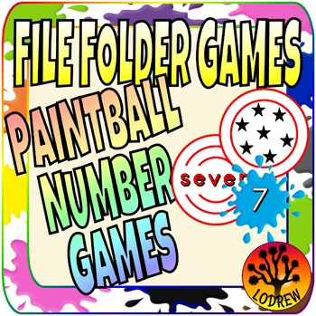 File Folder Games Numbers Paintball Math Center Kindergarten Preschool