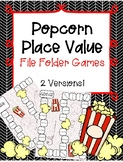 File Folder Games! POPCORN PLACE VALUE - 2 Versions to Mil