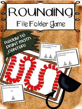 File Folder Games! ROUNDING - 2 Versions - Decimals and Whole Numbers
