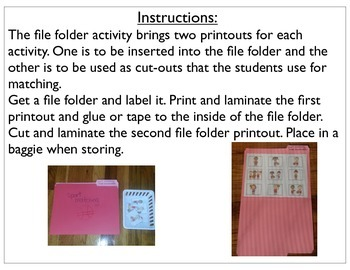 File Folder Activity Pack- Visual Discrimination (Prek-1st Grade)