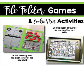 File Folder Games and Cookie Sheet Actvities