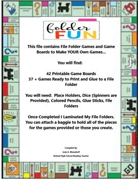 File Folder Games and Game Boards to Make YOUR Own