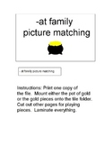 File Folder Games: -at Family Picture Matching