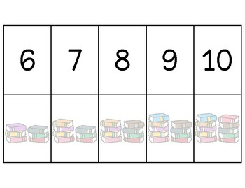 File Folder Games - Back to School Counting