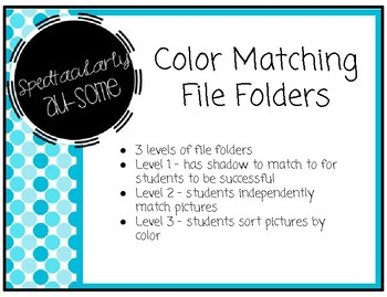 File Folder Games - Colors