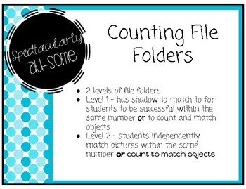 File Folder Games - Counting 1-10