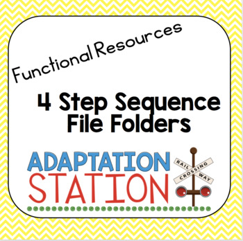 4 step Sequencing File Folder Activities