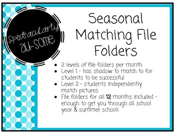 File Folder Games - Seasonal Matching