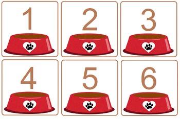 File Folder:  Give That Dog a Bone Numbers 1-10
