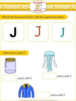 Letter J - File Folders