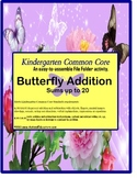 File Folder Kindergarten Common Core Butterfly Addition Autism and Special Needs