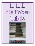 File Folder Labels for Organizing LLI materials