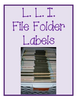 File Folder Labels for Organizing LLI materials by ...