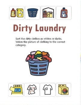 File Folder Laundry Sort- whites or darks