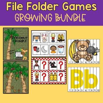 File Folder Learning Games GROWING BUNDLE