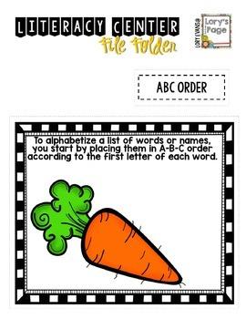 File Folder Literacy Centers- APRIL
