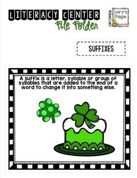 File Folder Literacy Centers- MARCH