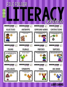 File Folder Literacy Centers- MAY