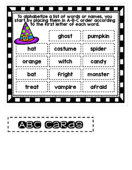 File Folder Literacy Centers- October